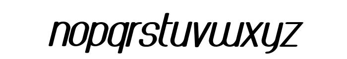 AthleticaSans-HeavyExpIta Font LOWERCASE