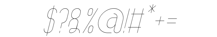 AthleticaSans-Italic Font OTHER CHARS