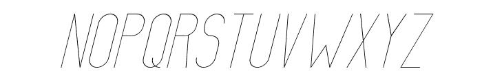 AthleticaSans-Italic Font UPPERCASE