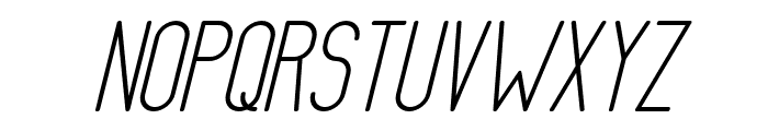 AthleticaSans-SemiBoldItalic Font UPPERCASE