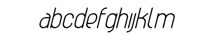 AthleticaSans-SemiBoldItalic Font LOWERCASE