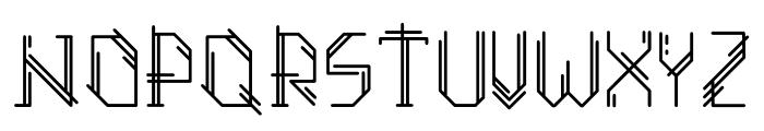 Azteker Font UPPERCASE