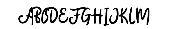 BadgerScript Font UPPERCASE