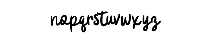 BadgerScript Font LOWERCASE