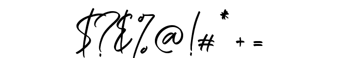 Ballestika Script Font Regular Font OTHER CHARS
