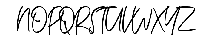 Ballestika Script Font Regular Font UPPERCASE
