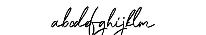 Ballestika Script Font Regular Font LOWERCASE