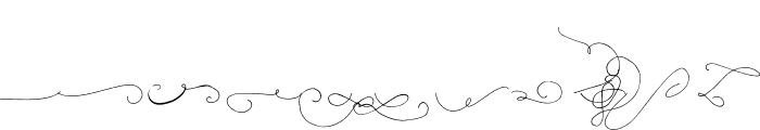 Be Grateful Swash Script Font LOWERCASE