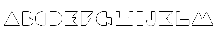 Beach Ball CPC Sandy Outline Font LOWERCASE