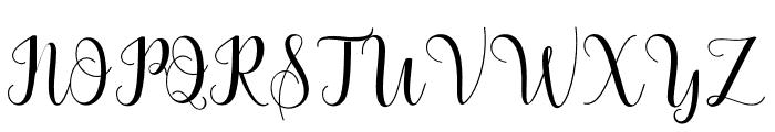 BertildaScript Font UPPERCASE