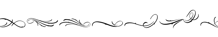 Black Angela Swash Font LOWERCASE