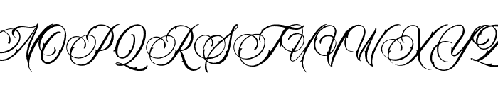 Black Angela Font UPPERCASE