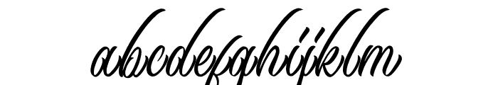 Black Angela Font LOWERCASE