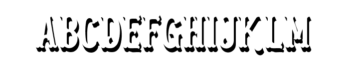 Blastrick Normal Shadow Font UPPERCASE