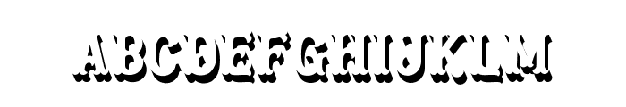 Blastrick Normal Shadow Font LOWERCASE