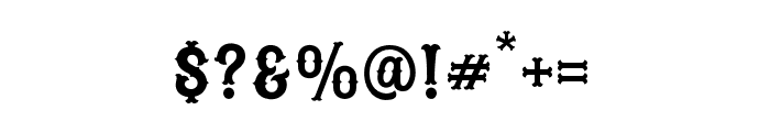 Blastrick Special Inline Font OTHER CHARS
