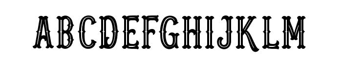 Blastrick Special Inline Font UPPERCASE