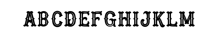Blastrick Special Inline Font LOWERCASE
