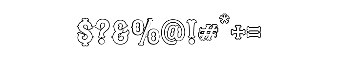 Blastrick Special Outline Font OTHER CHARS