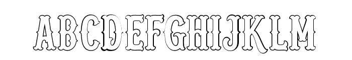 Blastrick Special Outline Font UPPERCASE