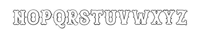 Blastrick Special Outline Font LOWERCASE