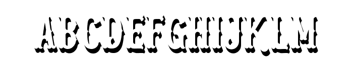 Blastrick Special Shadow Font UPPERCASE