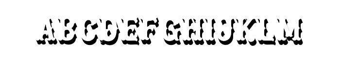 Blastrick Special Shadow Font LOWERCASE