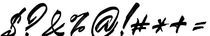 Blindedalt Font OTHER CHARS