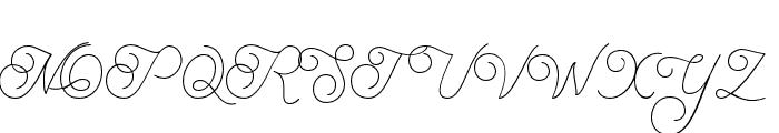 BraydenScript-Thin Font UPPERCASE