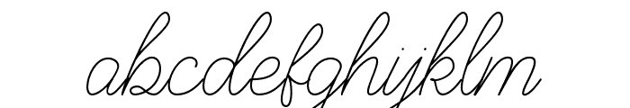 BraydenScript-Thin Font LOWERCASE