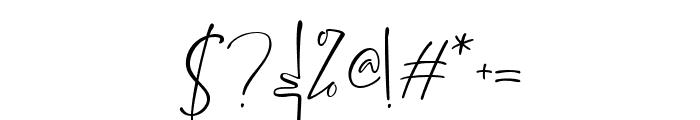 Brittanya Goldenite Regular Font OTHER CHARS