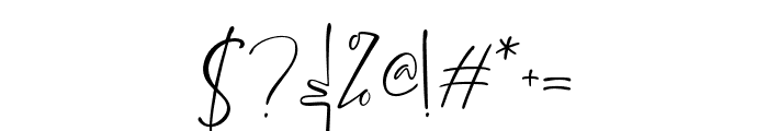 BrittanyaGoldenite-Regular Font OTHER CHARS