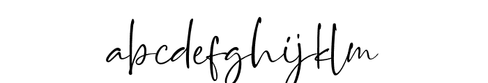 BrittanyaGoldenite-Regular Font LOWERCASE