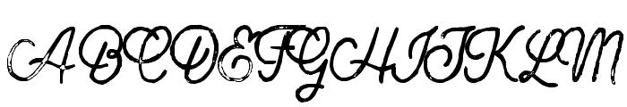 BuckwheatTCScript-Painted Font UPPERCASE