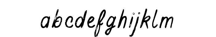 BuckwheatTCScript-Painted Font LOWERCASE