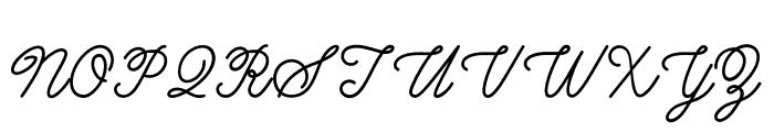 BurtonsScript-Regular Font UPPERCASE