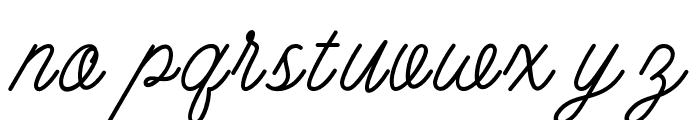BurtonsScript-Regular Font LOWERCASE