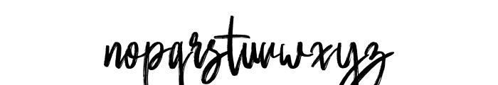 Butter Luchy Regular Font LOWERCASE