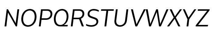 Bw Glenn Sans Regular Italic Font UPPERCASE