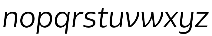 Bw Glenn Sans Regular Italic Font LOWERCASE