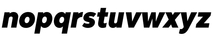 Bw Modelica Black Condensed Italic Font LOWERCASE