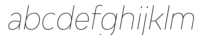 Bw Modelica Hairline Condensed Italic Font LOWERCASE
