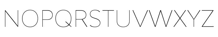 Bw Modelica SS01 Hairline Font UPPERCASE