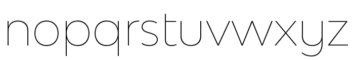 Bw Modelica SS01 Hairline Font LOWERCASE