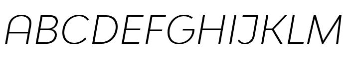 Bw Modelica SS01 Light Italic Font UPPERCASE