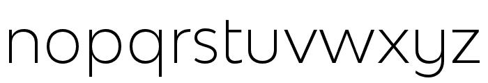 Bw Modelica SS01 Light Font LOWERCASE