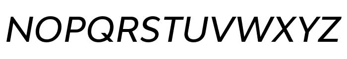 Bw Modelica SS01 Medium Italic Font UPPERCASE