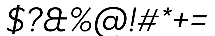 Bw Modelica SS01 Regular Italic Font OTHER CHARS