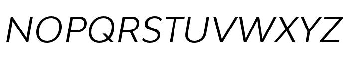 Bw Modelica SS01 Regular Italic Font UPPERCASE