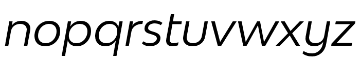 Bw Modelica SS01 Regular Italic Font LOWERCASE